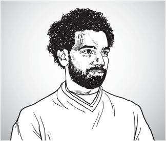 Mohamed Salah  Coloring Page