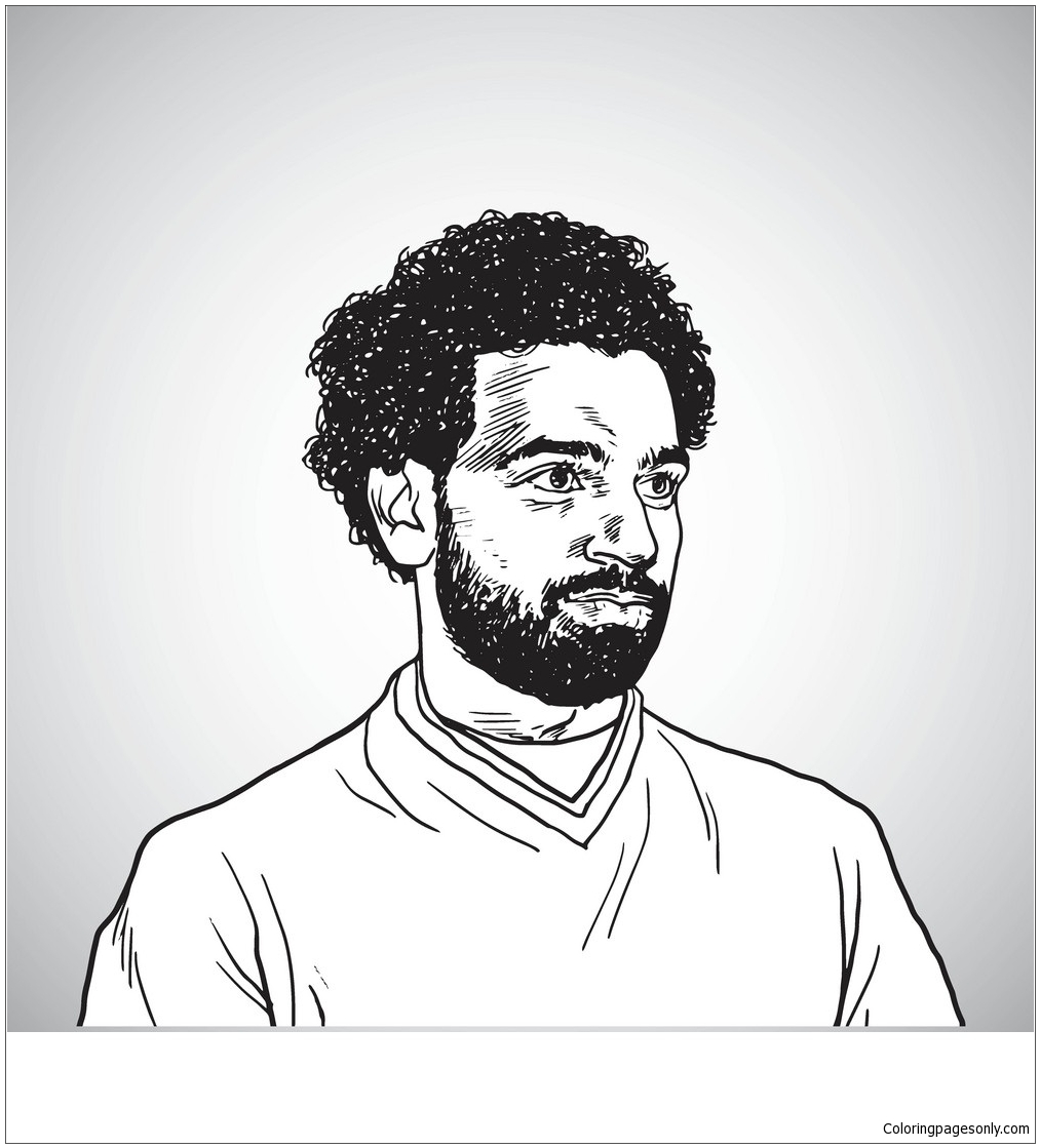 Mohamed Salah Coloring Page Free