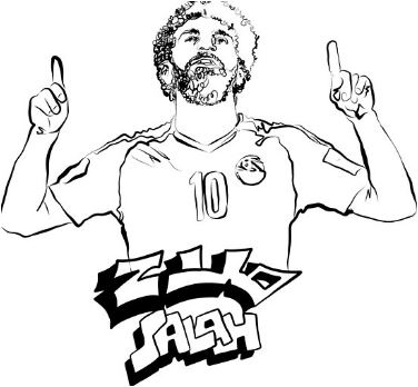 Mohamed Salah-image 17 Coloring Page