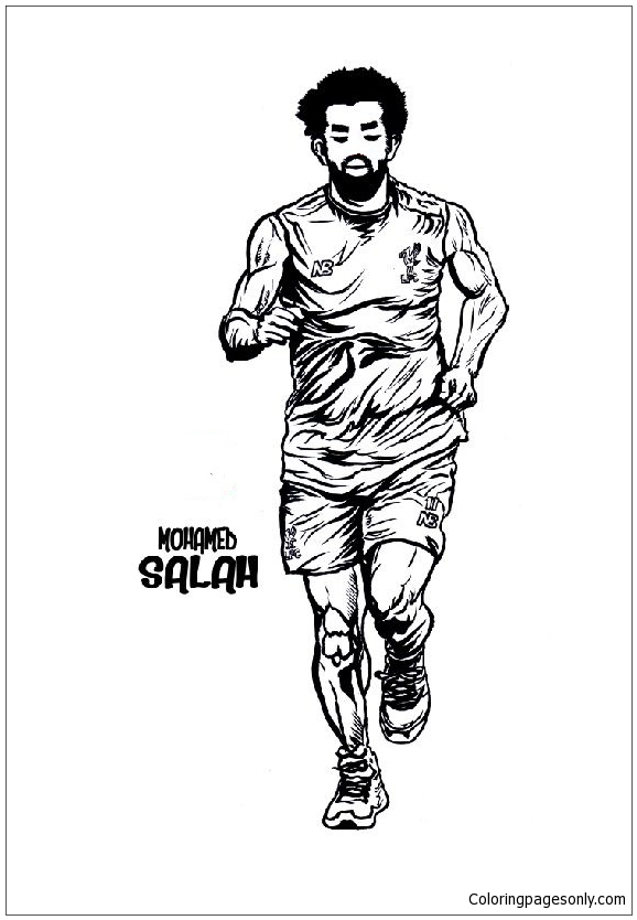 Mohamed Salah Image 2 Coloring Page Free Coloring Pages