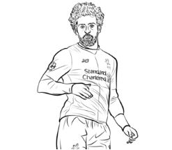 Mohamed Salah-image 3 Coloring Page