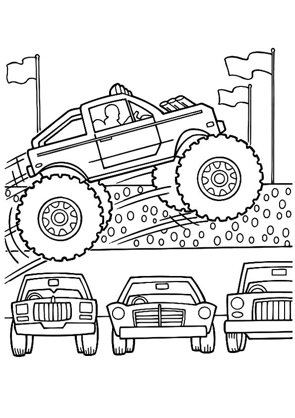 Mohawk Monster Truck Coloring Page