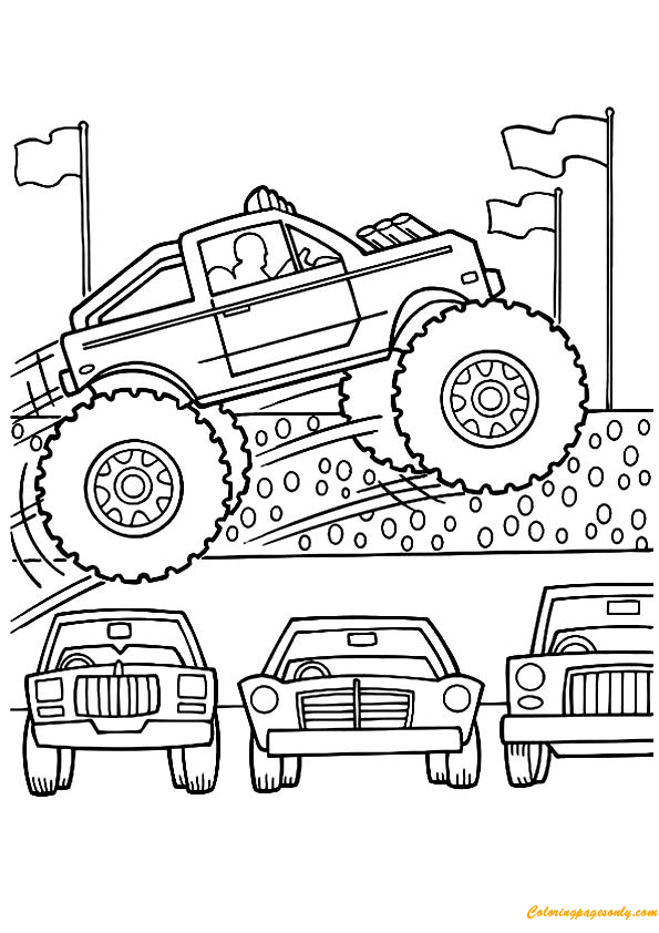 maximum destruction monster jam coloring pages to print