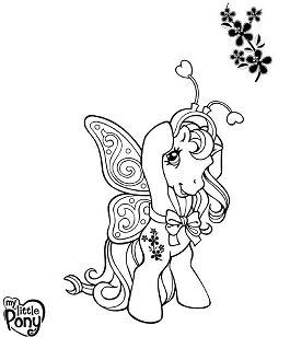Mon Petit Poney My Little Pony Coloring Page