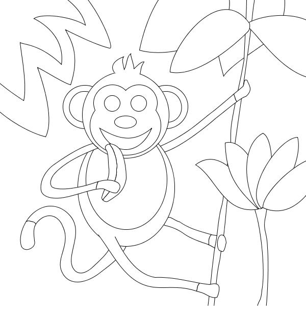Monkey Eating a Banana
