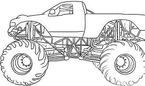 Monster Jam Truck Coloring Page