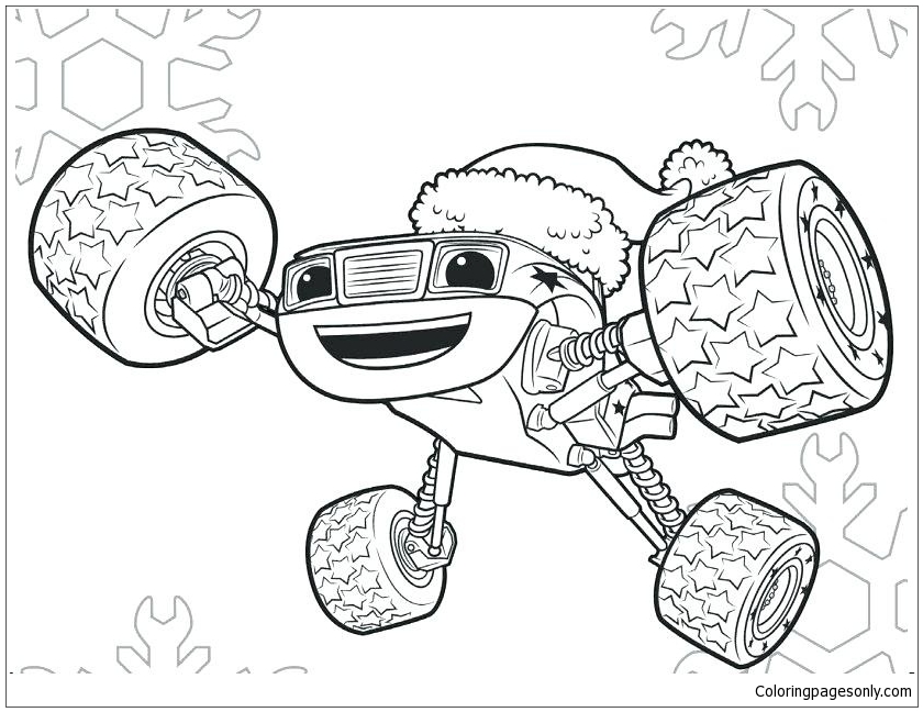 Monster Jam Coloring Page - Free Coloring Pages Online