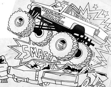 Monster Truck Prowler Coloring Page - Free Coloring Pages ...