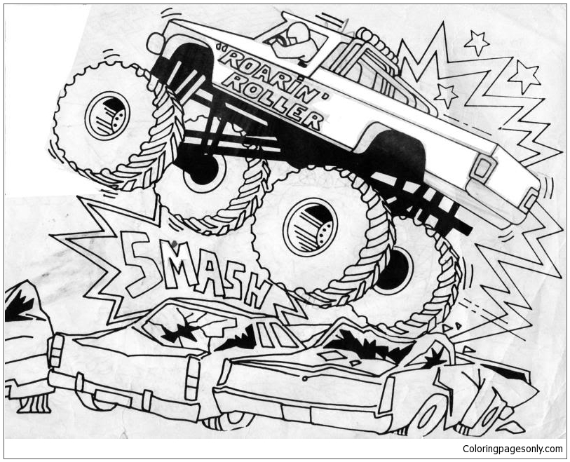 Monster Truck 3 Coloring Pages - Transport Coloring Pages ...