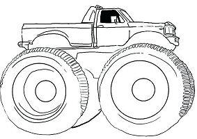 Monster Truck Gunslinger Coloring Page