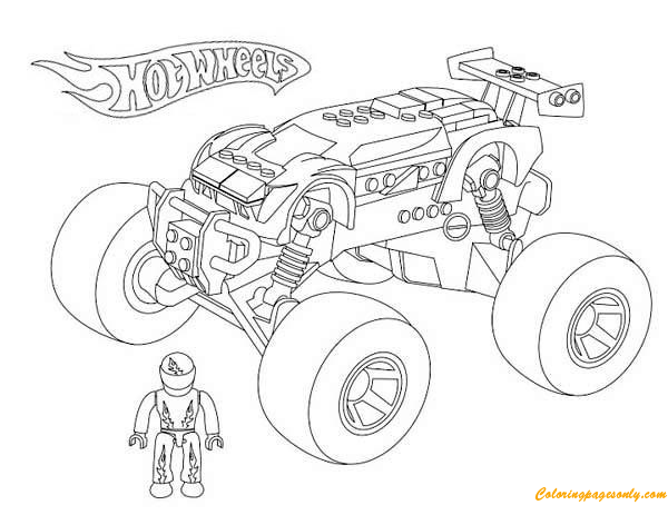Monster Truck Hot Wheels 2 Coloring Page