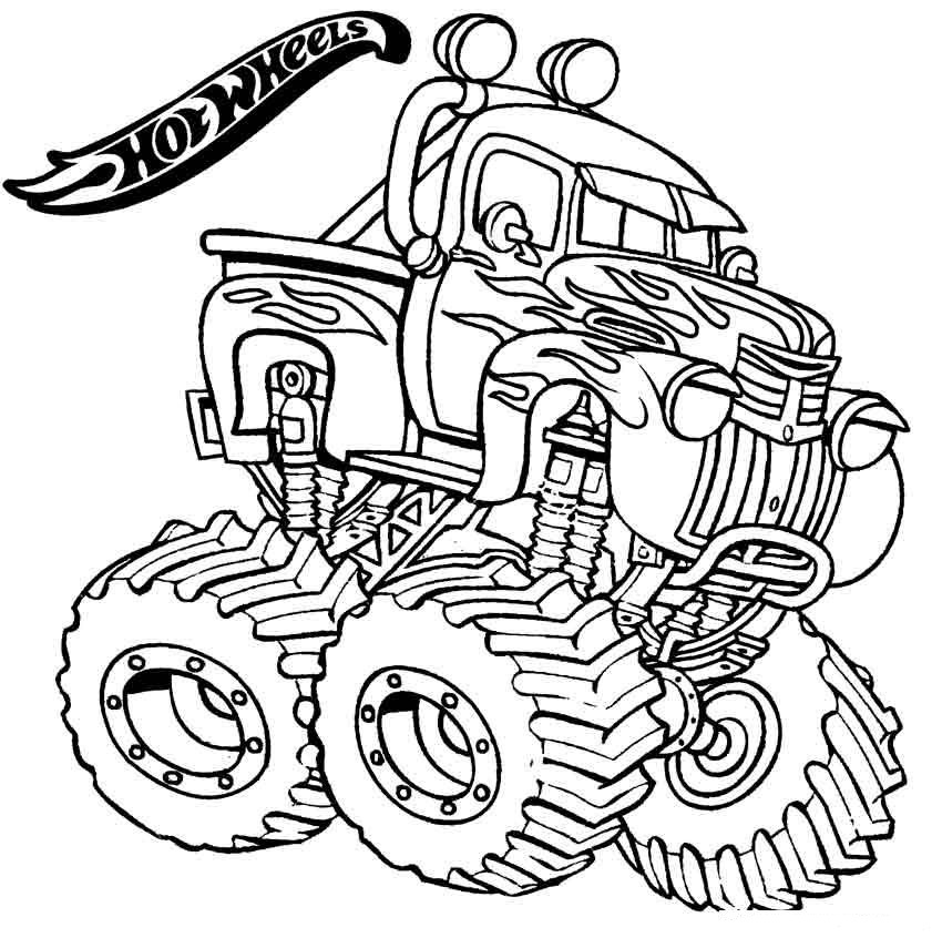 Monster Truck Coloring Pages - ColoringPagesOnly.com