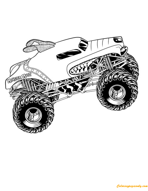 fado chicago st patricks day coloring pages | Monster Truck Mutt Coloring Page - Free Coloring Pages Online