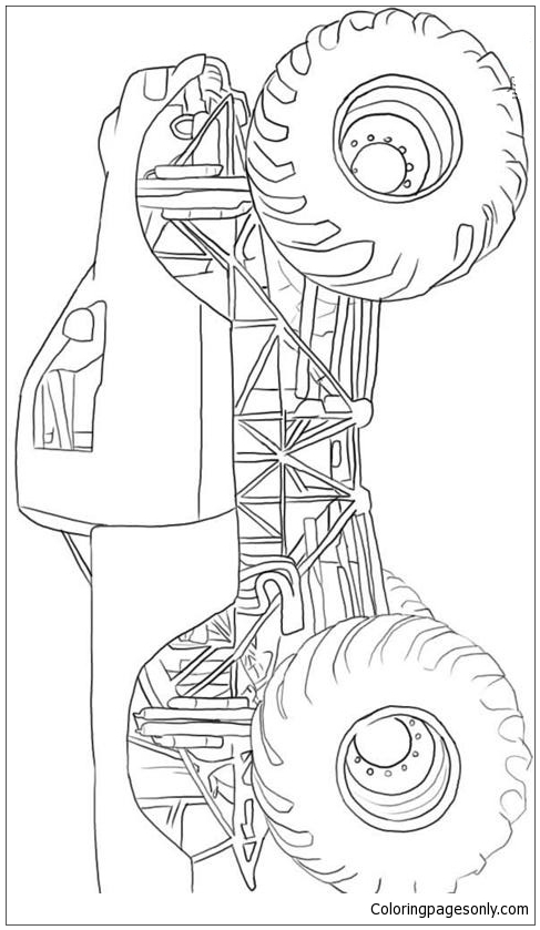 Monster Truck Speed Coloring Page