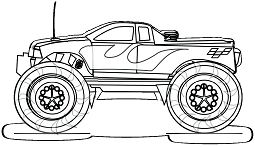 Easy Monster Truck Coloring Page