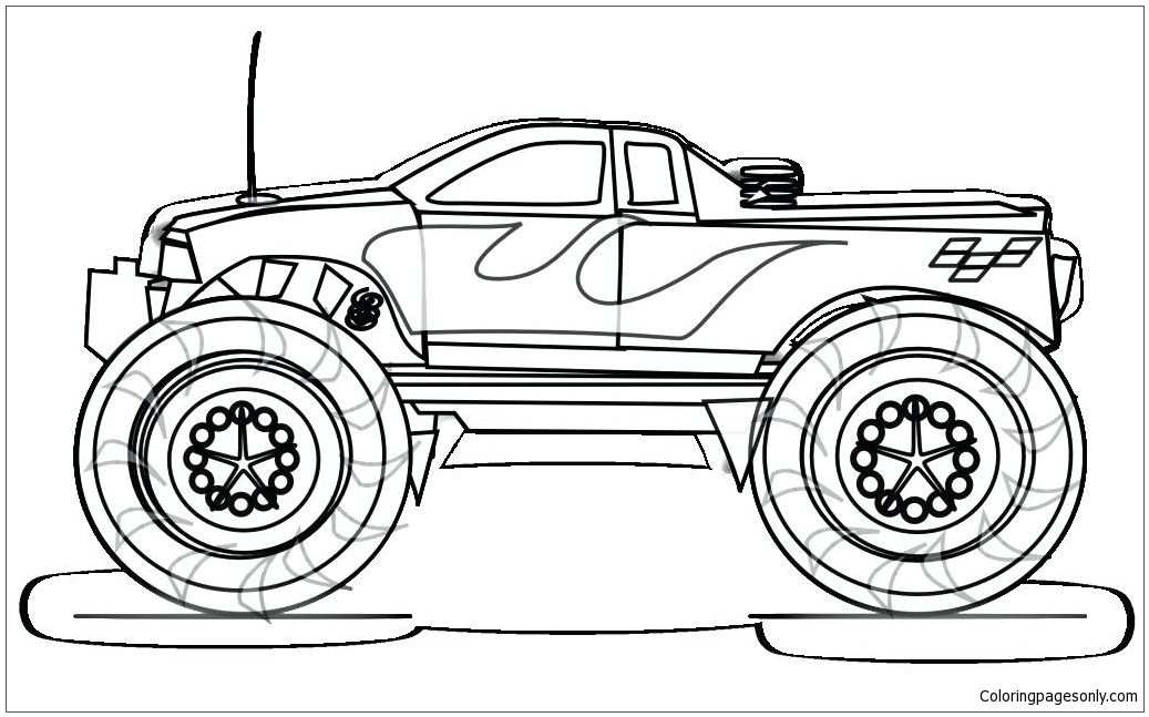 easy monster truck coloring page - Monster Truck Coloring Pages Easy
