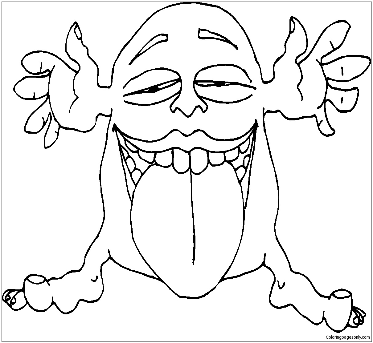 Monsters with Big Tongue Coloring Page - Free Coloring Pages Online
