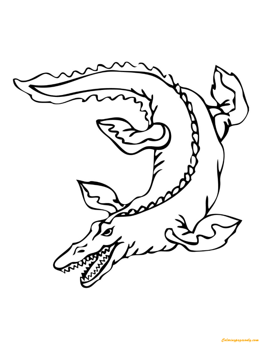 Mosasaur Dinosaurs Coloring Page - Free Coloring Pages Online