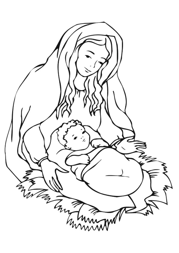 Mother Mary With Child Jesus