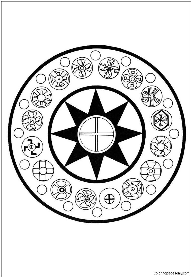 Motherland Mu Mandala Coloring Page