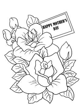 Mothers Day Cards Page Coloring Page