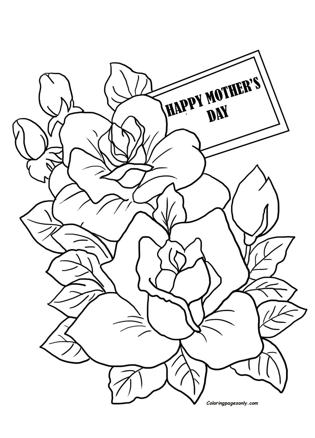 Mothers Day Coloring Page Cards Page Coloring Page - Free ...