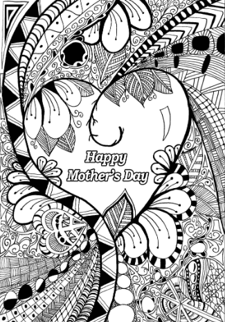 Mothers Day Mandala Coloring Page