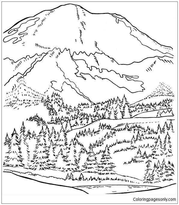 Mount Rainier Coloring Page