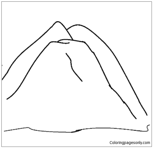Mountain Coloring Page Free Coloring