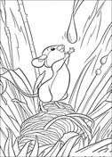 Mouse Tries To Catch Some Water  from Bambi Coloring Page