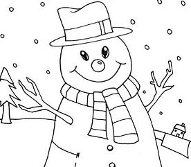 Mr Snowman on Christmas Love Snowy Rain