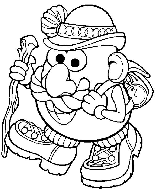 Mr. Potato Head travels Coloring Page