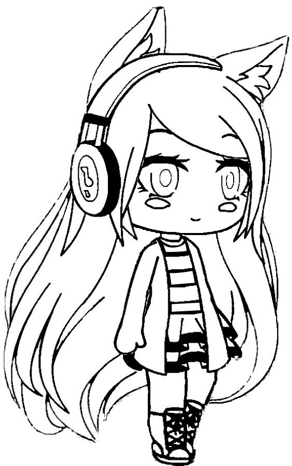 Mumble is listening to music Coloring Page
