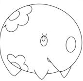 Munna Pokemon Coloring Page