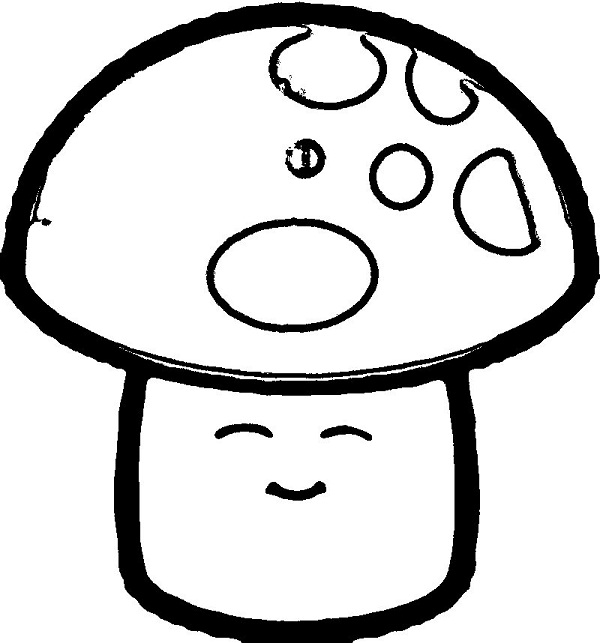 Sun-shroom Coloring Page