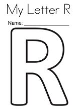 My Letter R Coloring Page