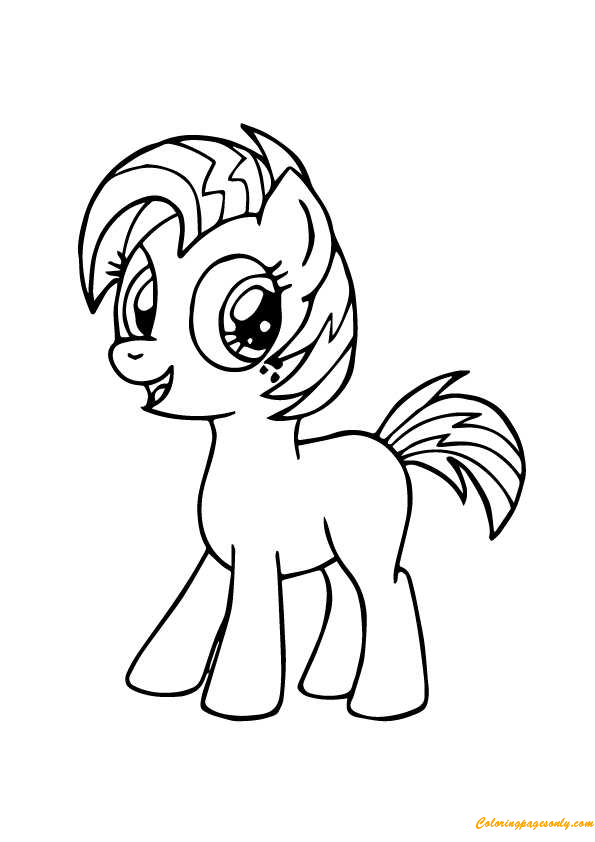 My Little Pony Babs Seed Coloring Page Free Coloring