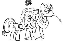 My Little Pony Base Coloring Page