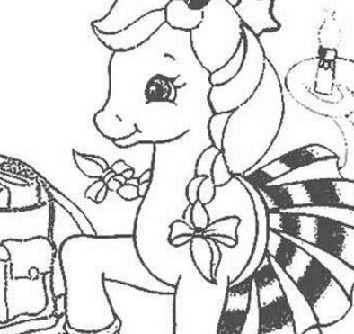 My Little Pony Cute Girl Coloring Page