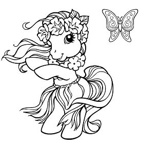 My Little Pony Dancing Coloring Page