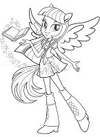 My Little Pony Equestria Girls Coloring Page