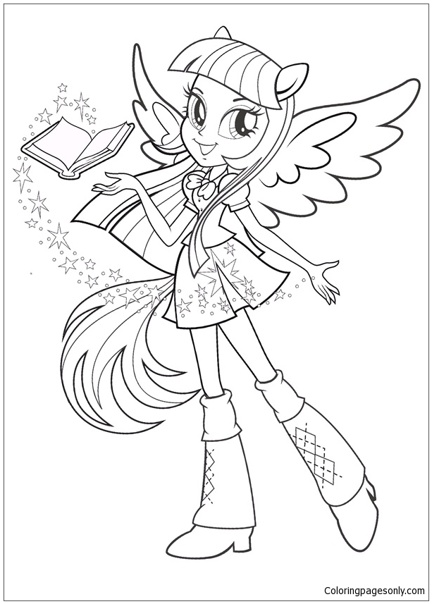 My Little Pony Equestria Girls Coloring Page Free Coloring Pages