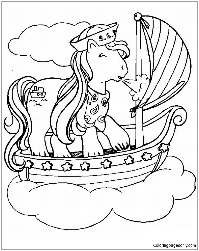 My Little Pony Go Sailing Coloring Page