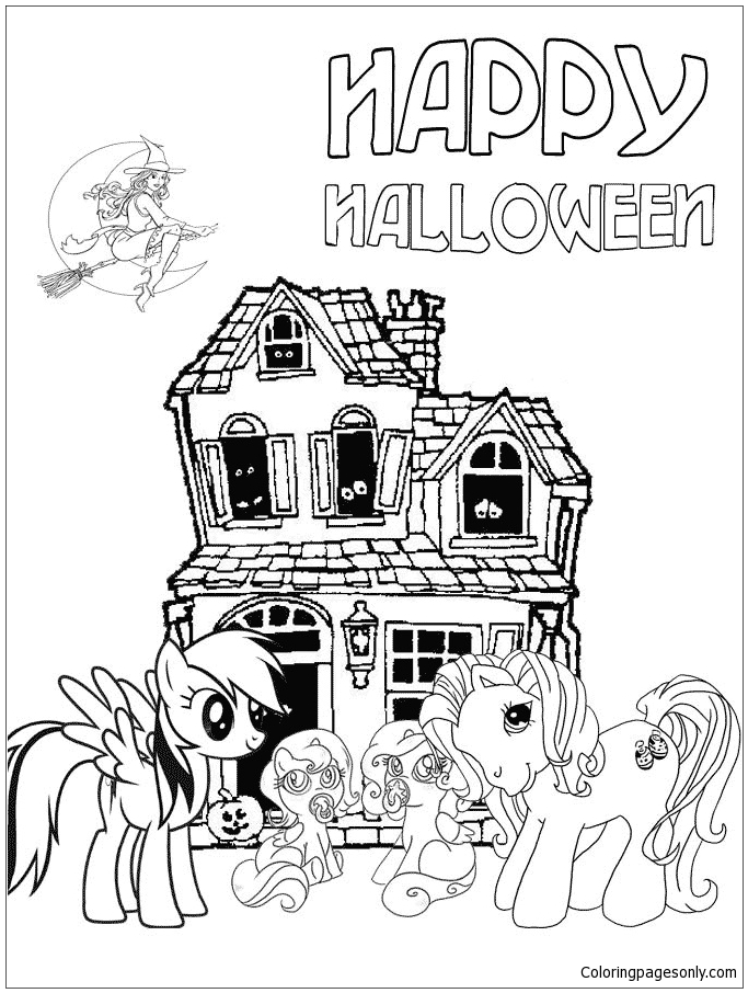 My Little Pony Halloween Coloring Page Free Coloring Pages Online