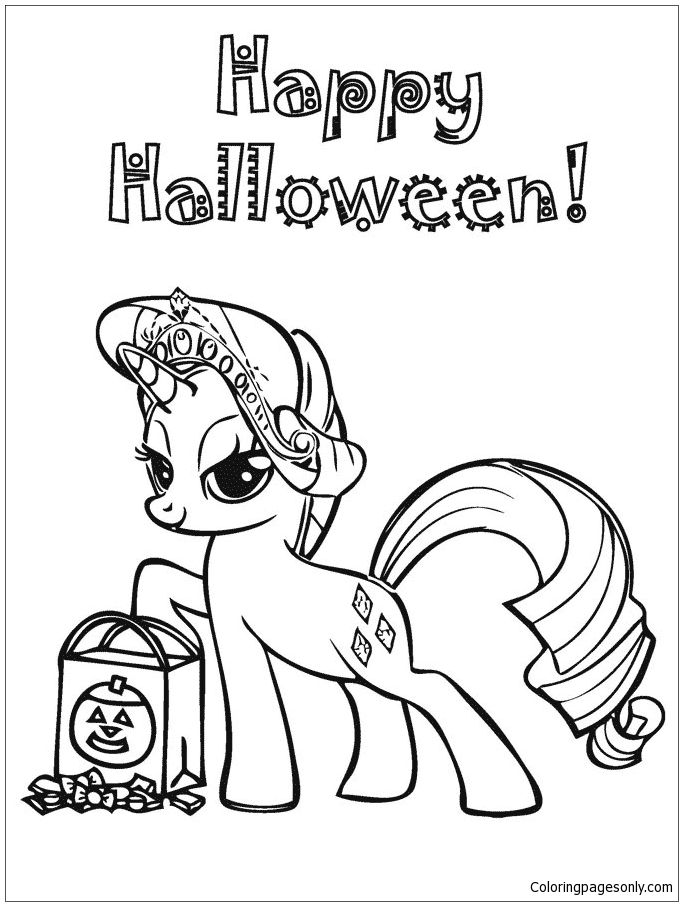 My Little Pony Happy Halloween Coloring Page