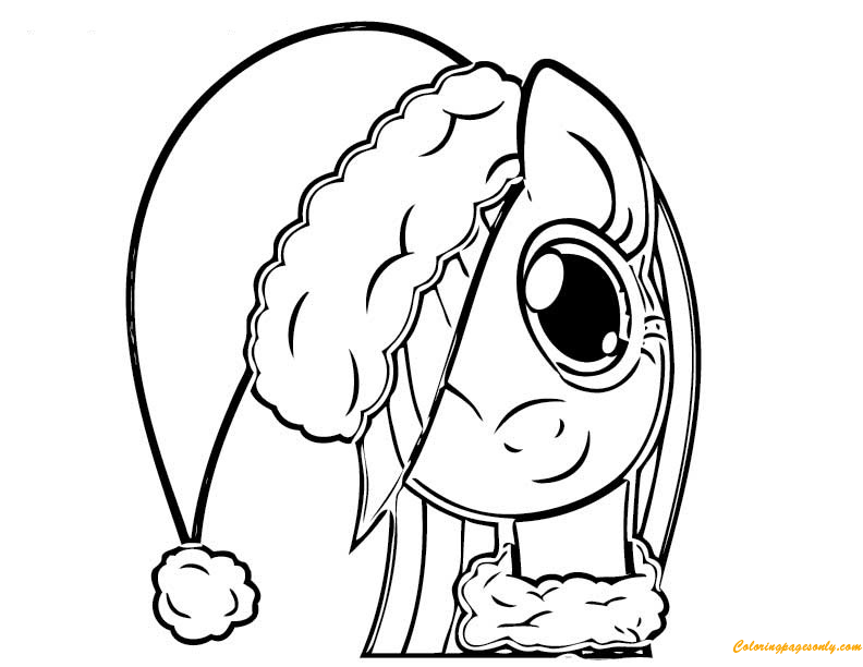 My Little Pony Playing Christmas Coloring Page Free