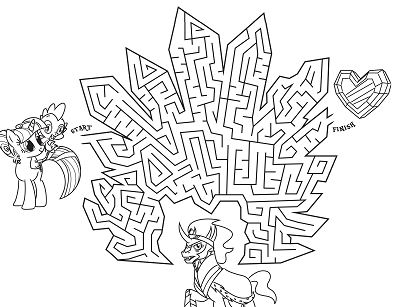 My Little Pony In Crystal Empire Maze Coloring Page