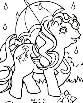 My Little Pony In The Rain Coloring Page