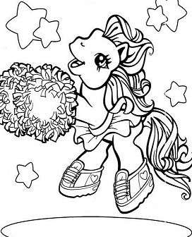 My Little Pony Is Dancing Coloring Page