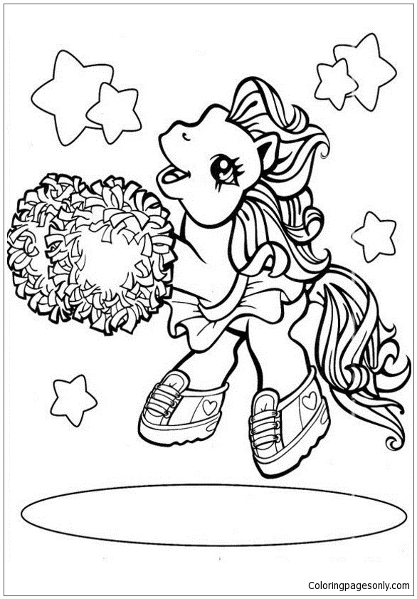 My Little Pony Is Dancing Coloring Page - Free Coloring ...